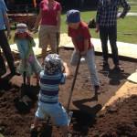 kids get digging