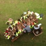 school children taking part in flora fauna workshop